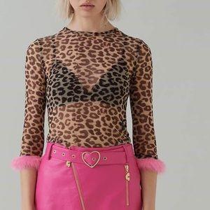 Lazy oaf G.E.M. sheer leopard top